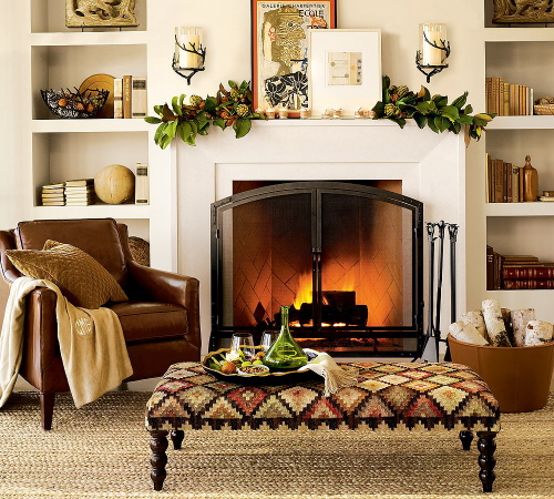 Home Fireplace Mantel Decorating Ideas 500 x 450