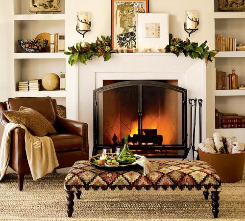 Home Fireplace Mantel Decorating Ideas 500 x 450